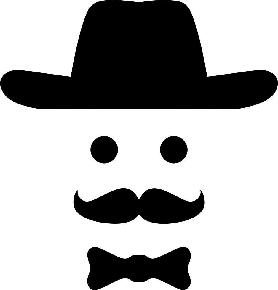 Moustache clipart cowboy. Bow smile fashion hipster