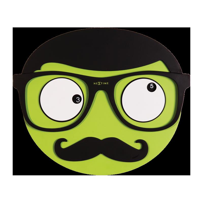 moustache clipart square glass