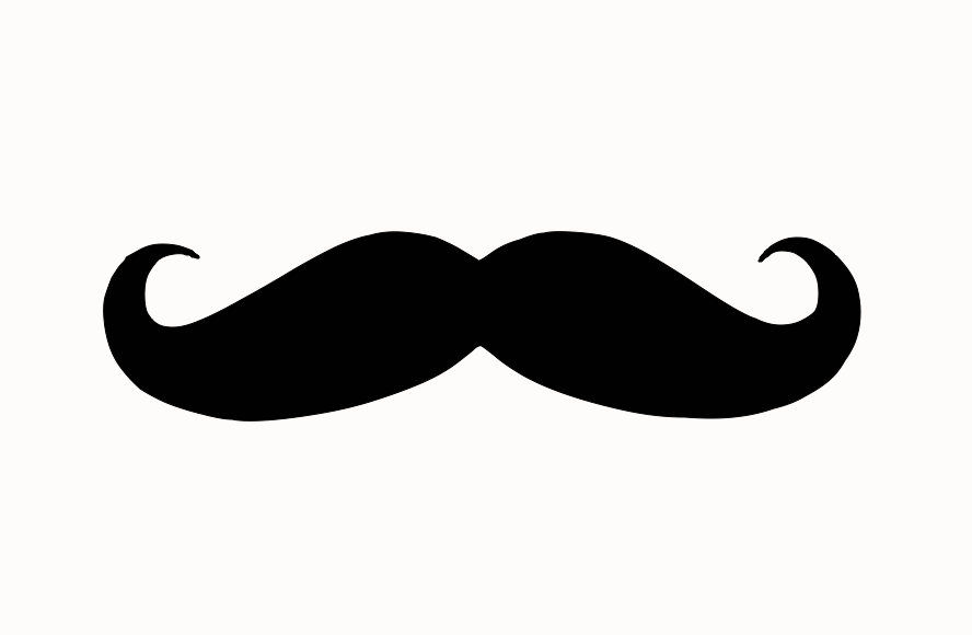 Clipart mustache stache. Less than perfect life