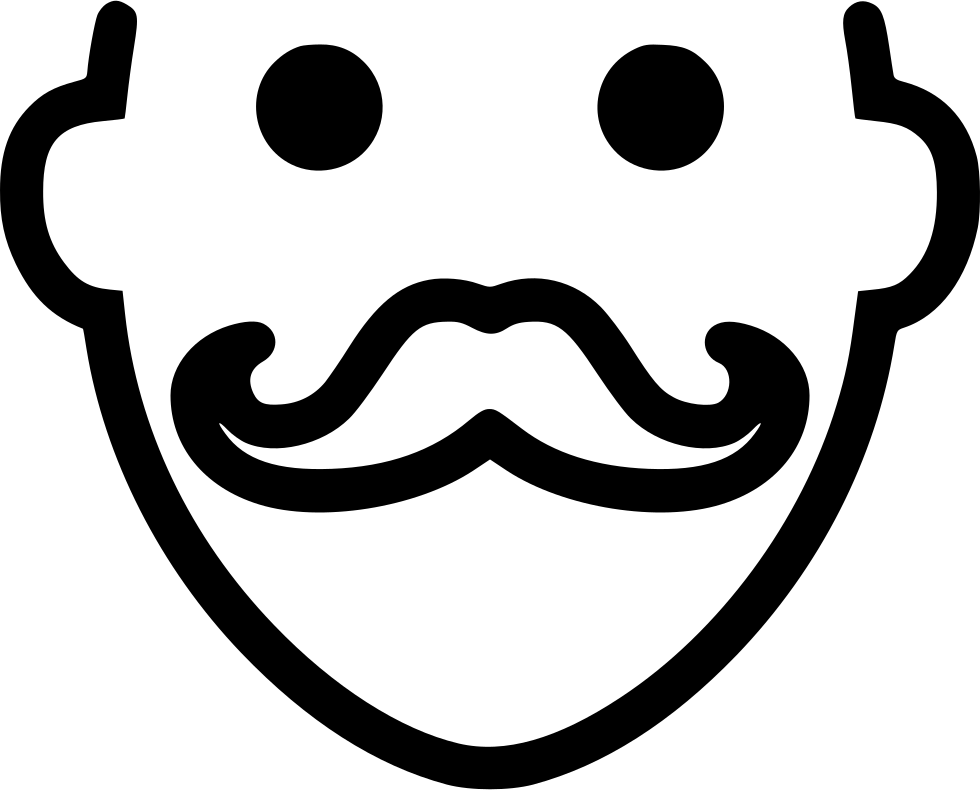 Moustache clipart psd. Mustache svg png icon
