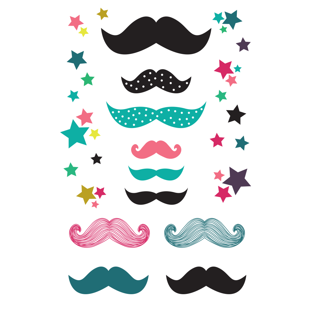 Clipart mustache teal. Moustaches partystudio party tattoosmoustaches