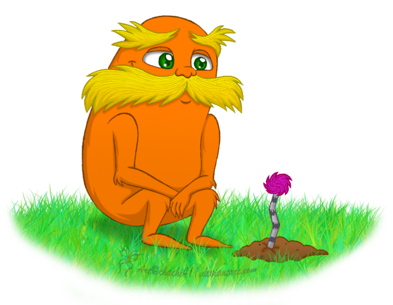 By chachi on deviantart. Clipart mustache the lorax