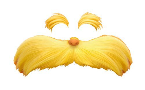 Template printable . Clipart mustache the lorax