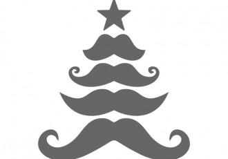 X free clip art. Mustache clipart tree