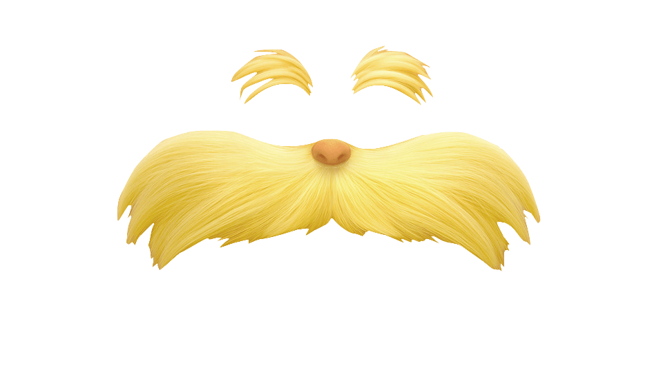 Eyebrow clipart transparent background. The lorax and moustache