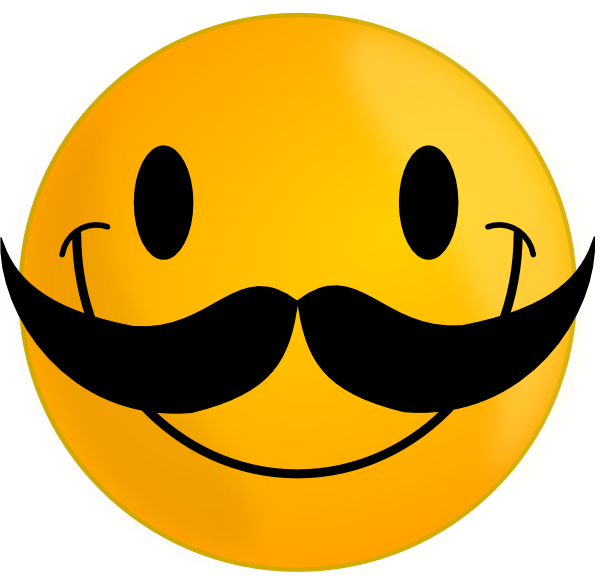 With mustache clip art. Clipart smile large