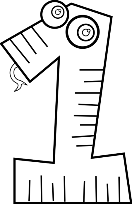 Numbers clipart black and white. Animal number bclipart animals