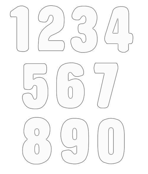 Free images download clip. Numbers clipart black and white