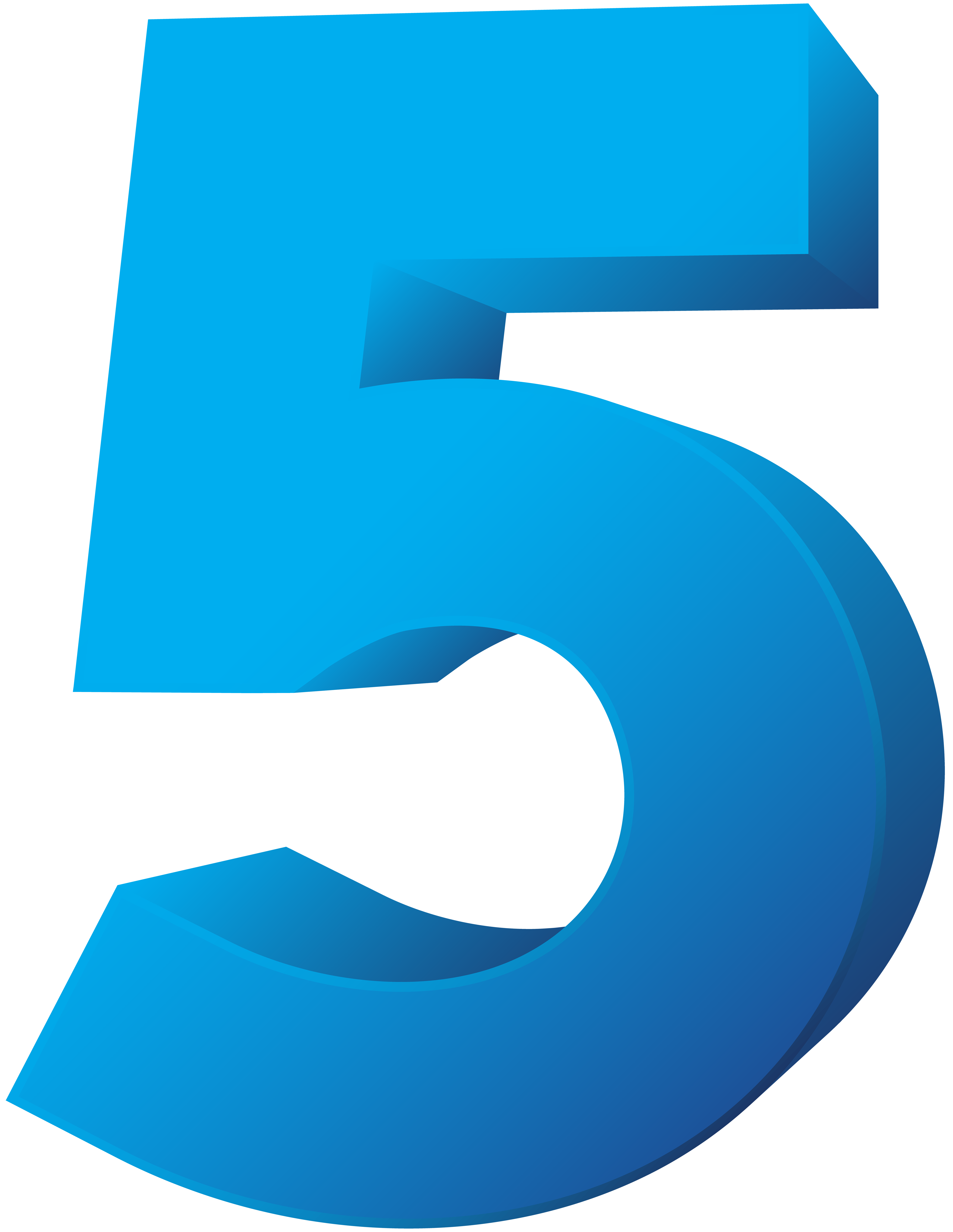 Number five transparent png. Clipart numbers blue