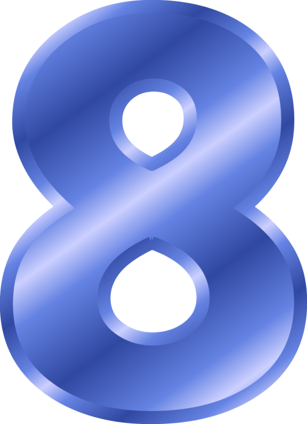 Number png images free. Clipart numbers blue