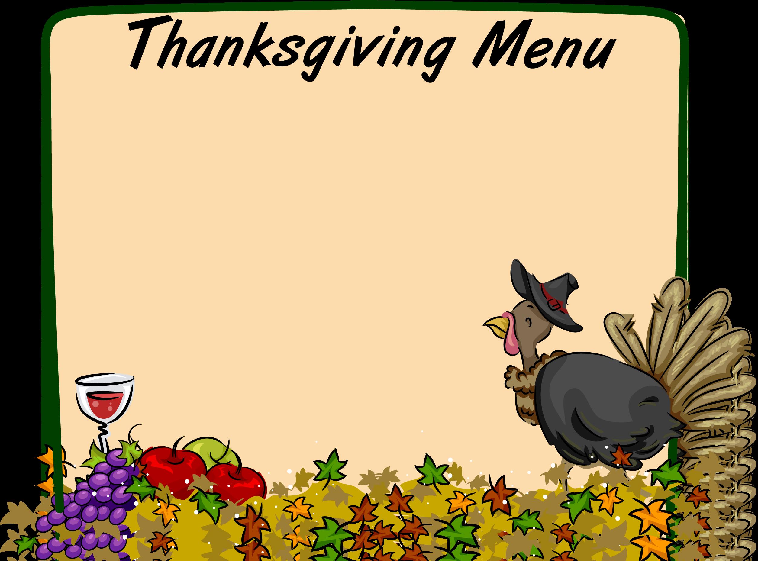 Luncheon clipart thanksgiving. Buffet borders