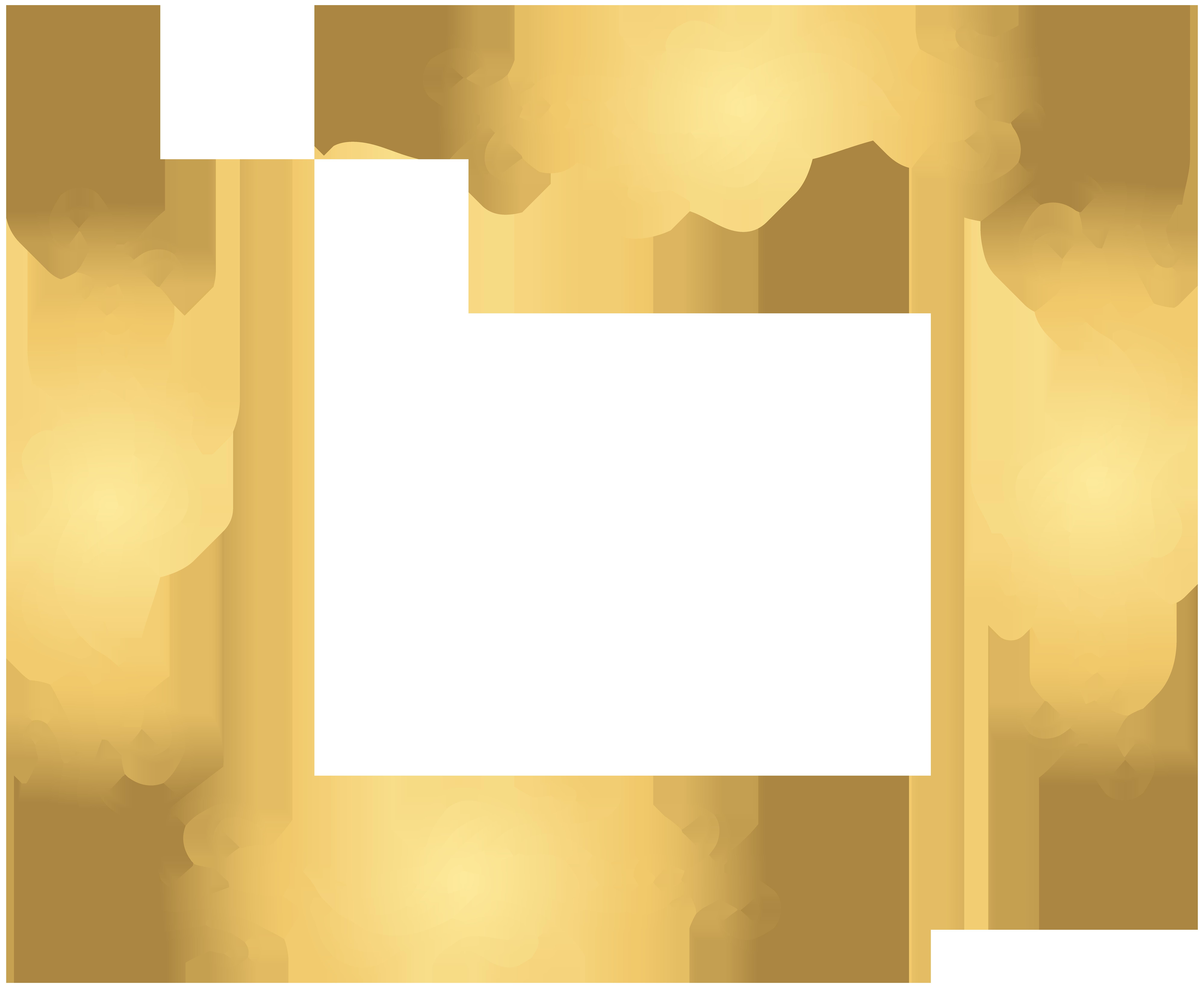 Wheat clipart corner. Gold decoration transparent png