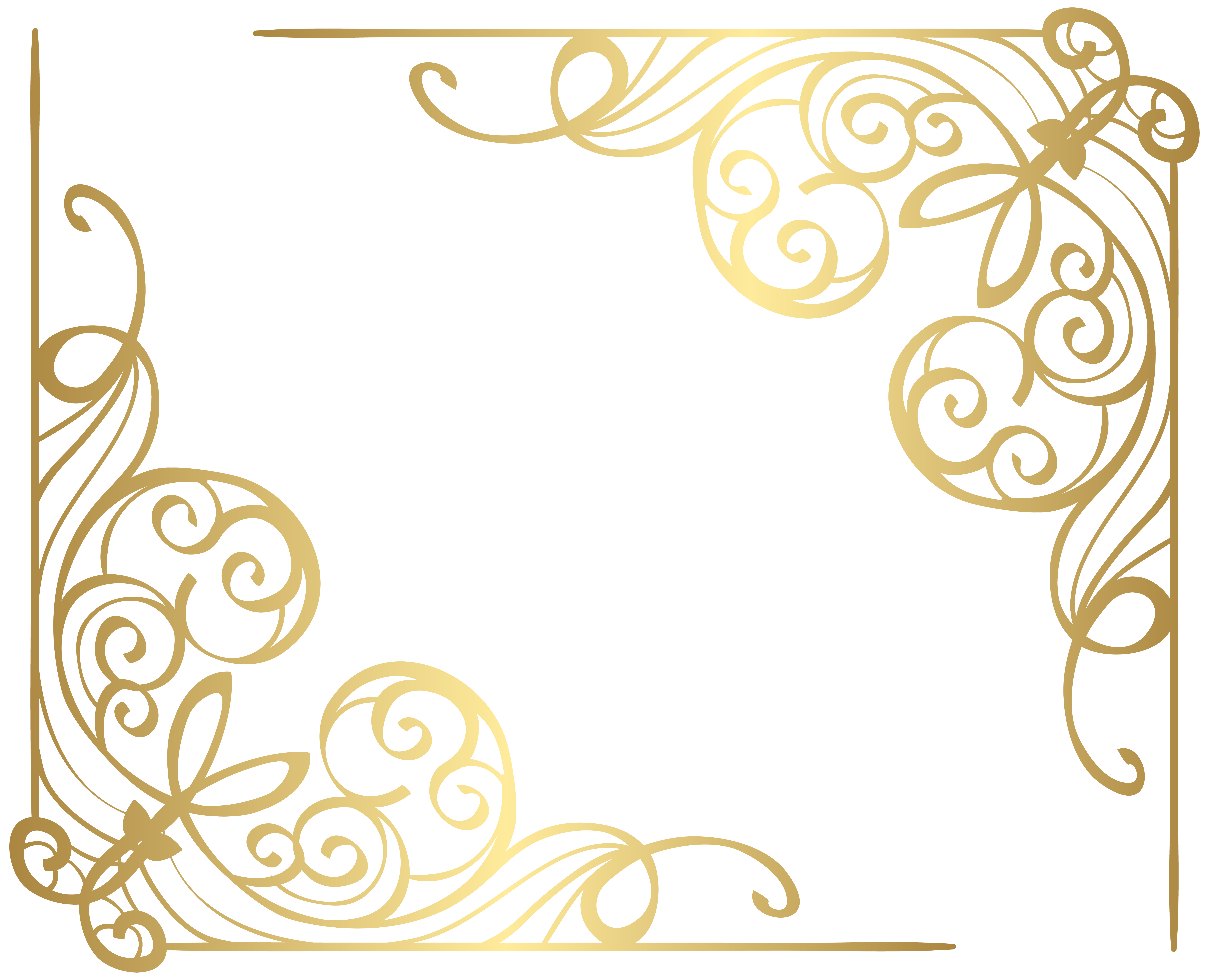 Corners gold png clip. Water clipart corner