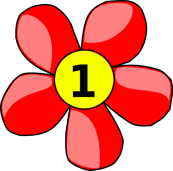 Number clipart counting. Flower clip art at