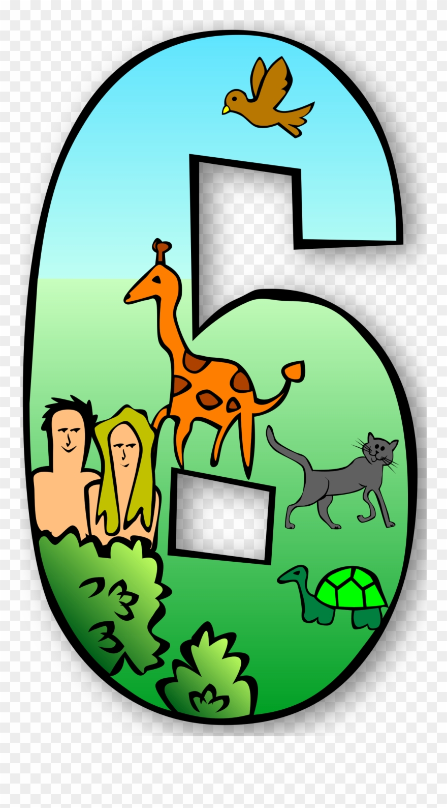 Creation clipart number. Free days numbers gerald