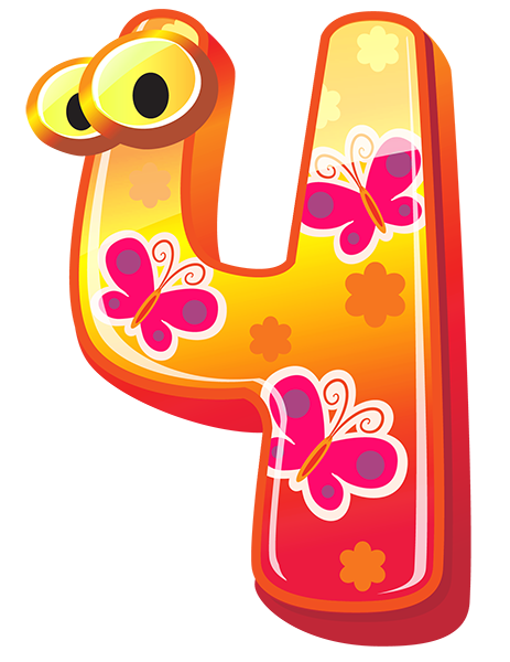 Number 1 clipart decorative. Cute numbers gallery free
