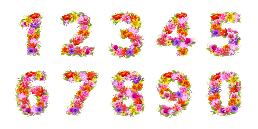 Flowers clipart number.  collection of floral