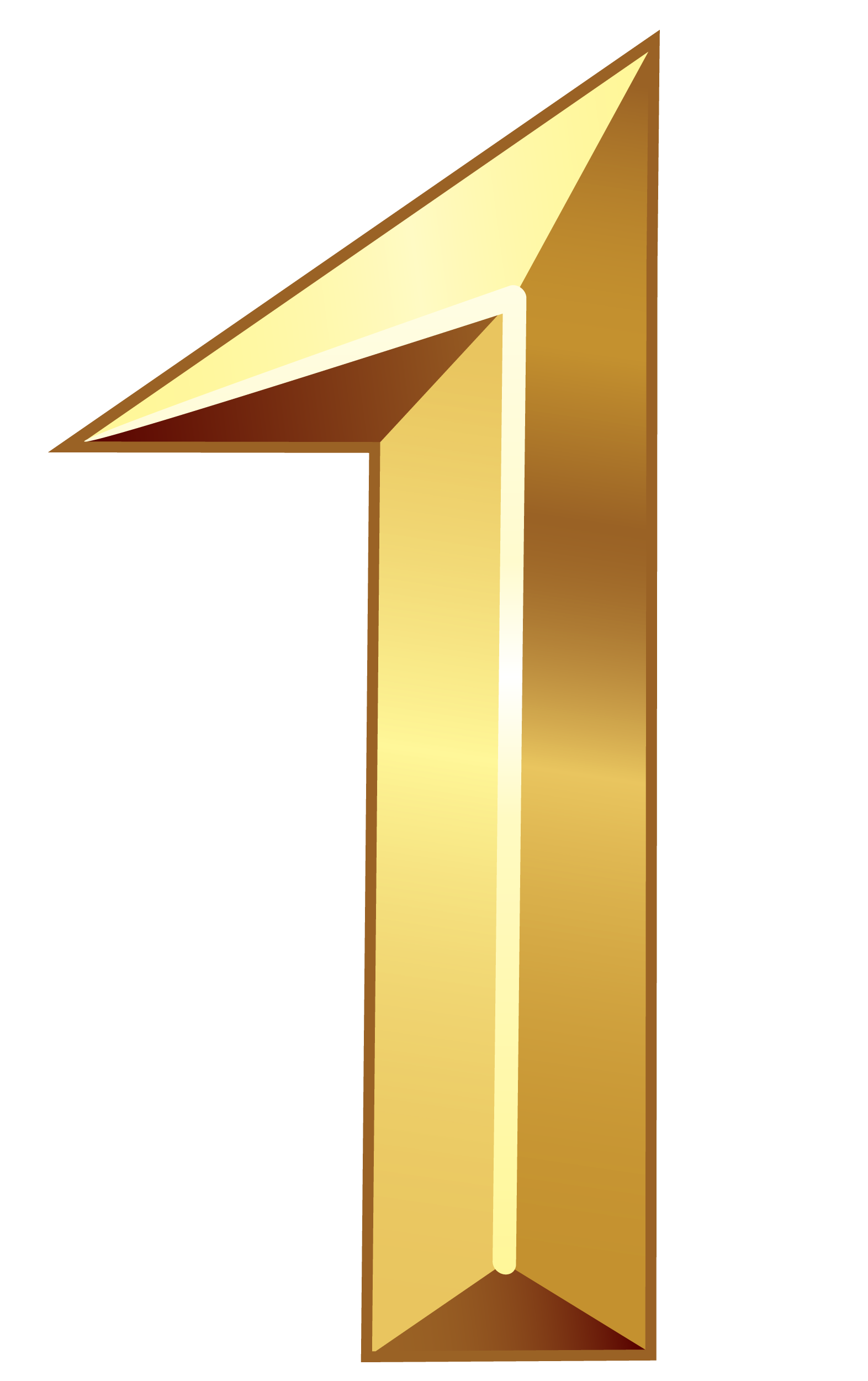 Gold Number One PNG Clipart Image