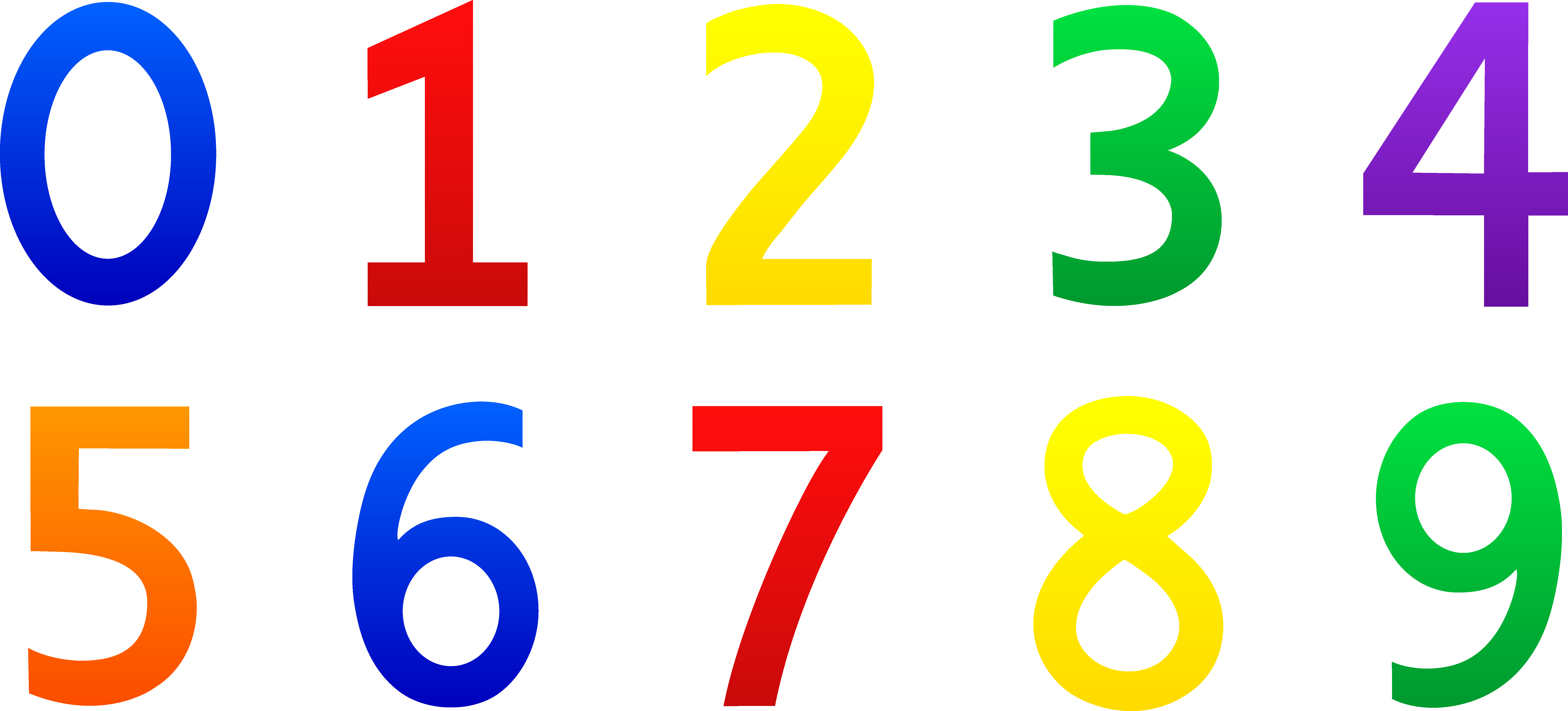 Numbers clipart jumbled. Top of letters format
