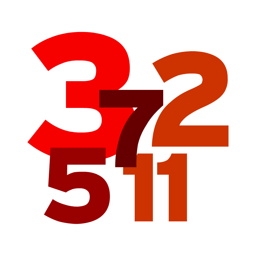 collection of prime. Numbers clipart jumbled