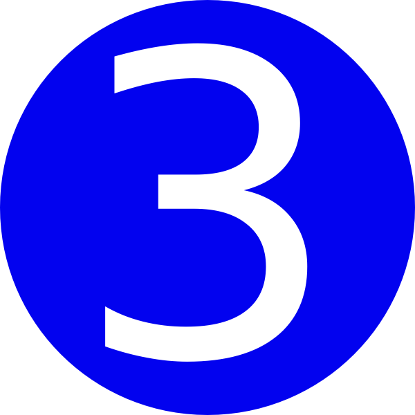 Clipart numbers ladder. Blue rounded with number