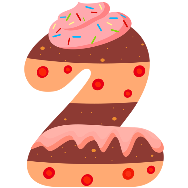 Numbers clipart learning. Sweet number two png