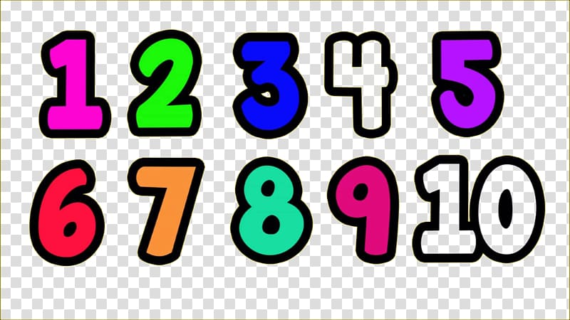 Counting numerical digit random. Number clipart natural number