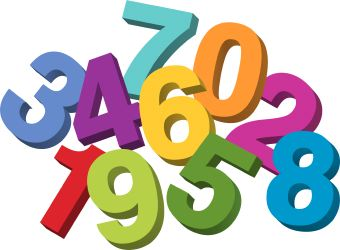 Definition and examples statistics. Number clipart natural number