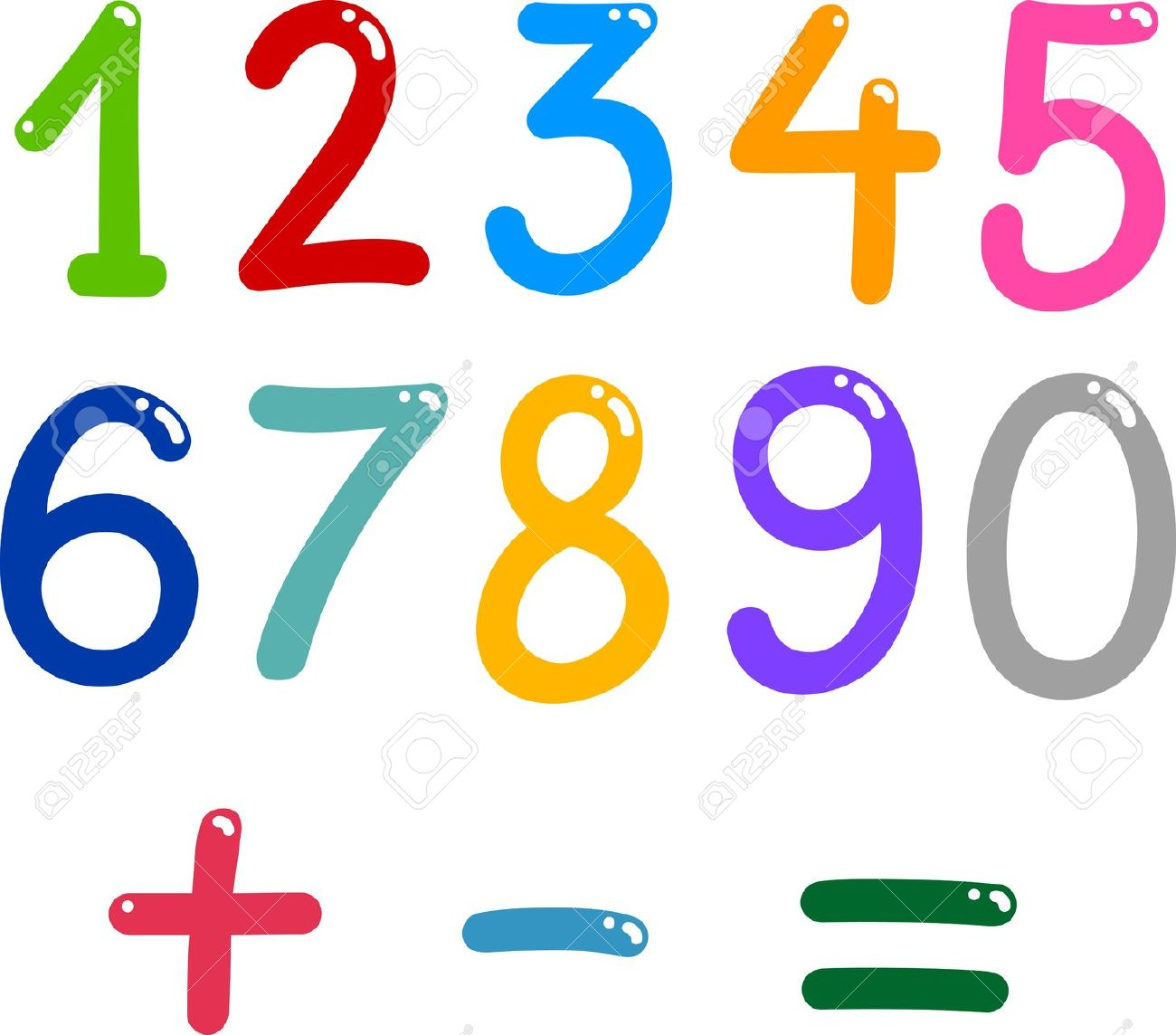 Maths numbers . Number clipart mathematics