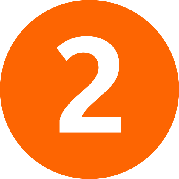 Two clip art at. Number 2 clipart orange