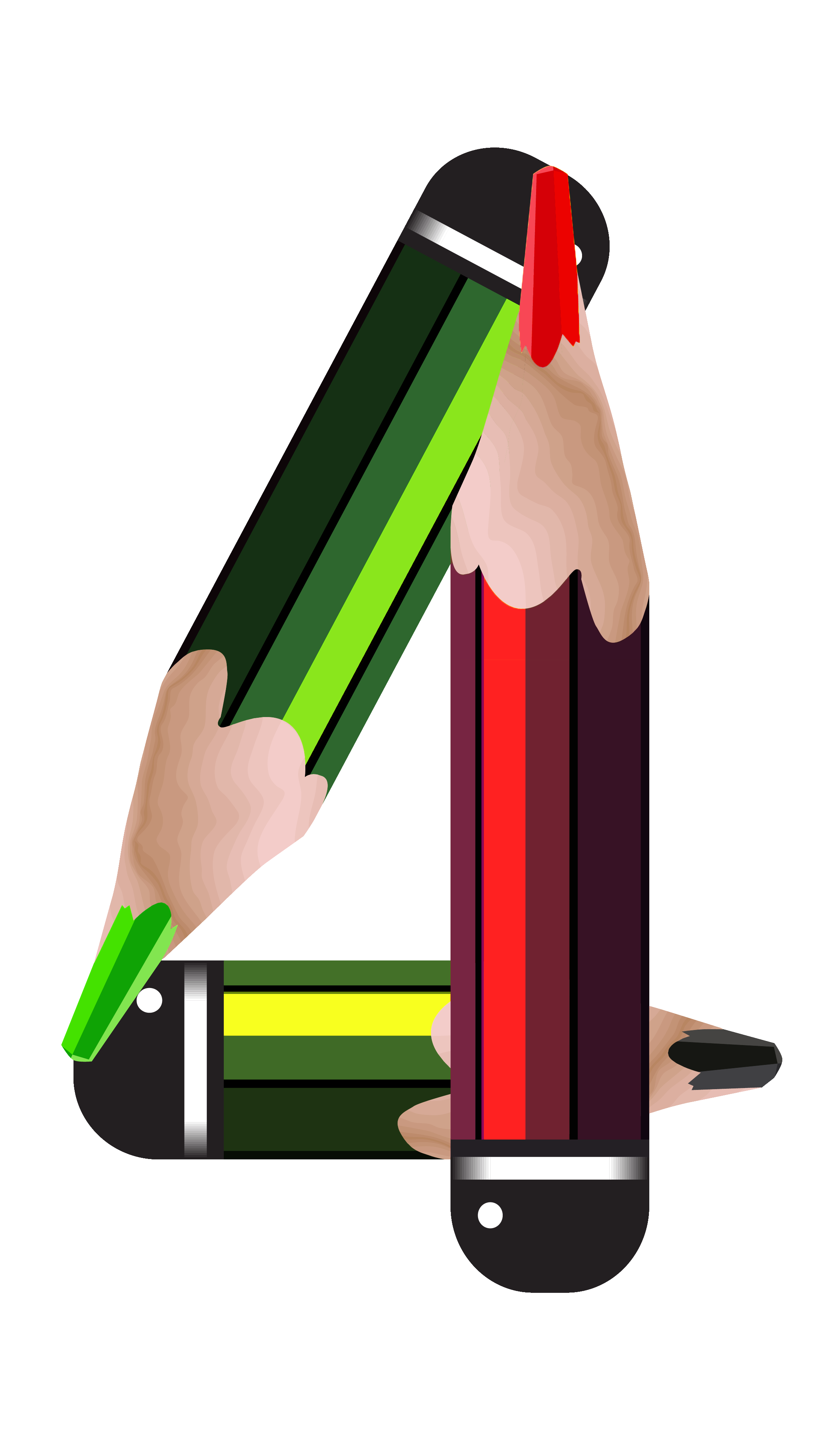 Name clipart pencil. Number four png image