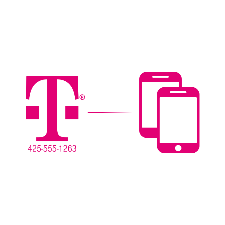 Numbers clipart phone. T mobile digits for