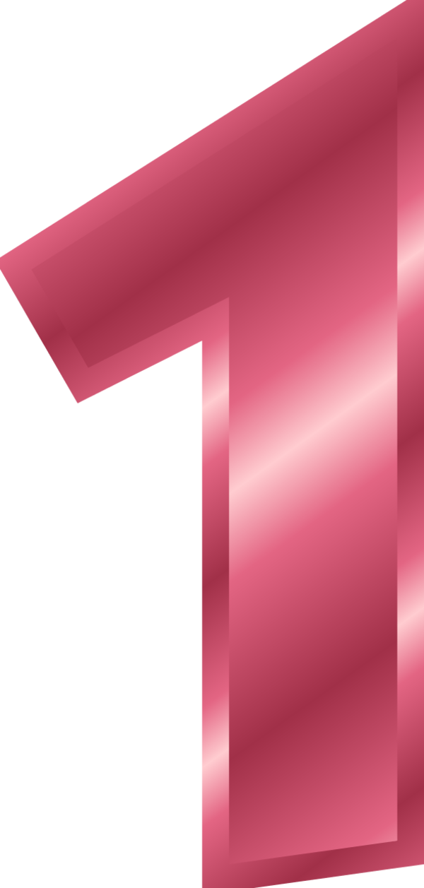 Number 1 clipart single number.  collection of transparent