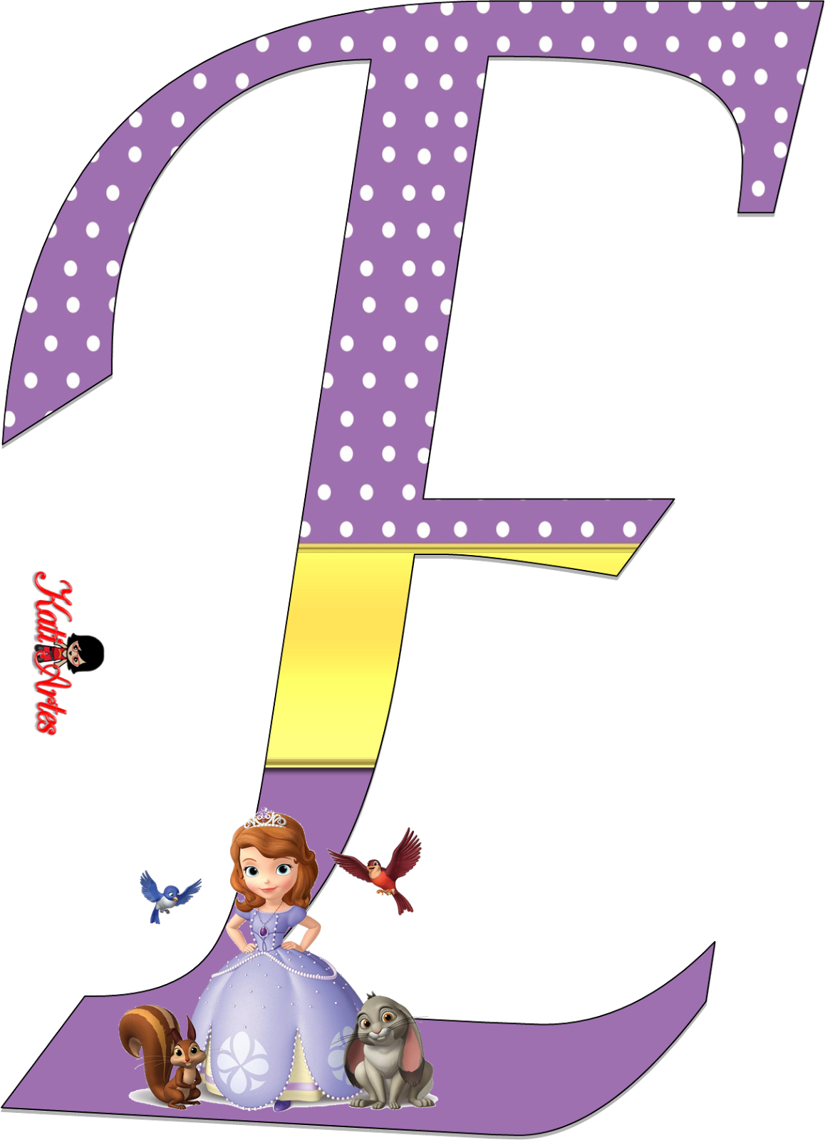 Sofia the first free. Letter clipart princess