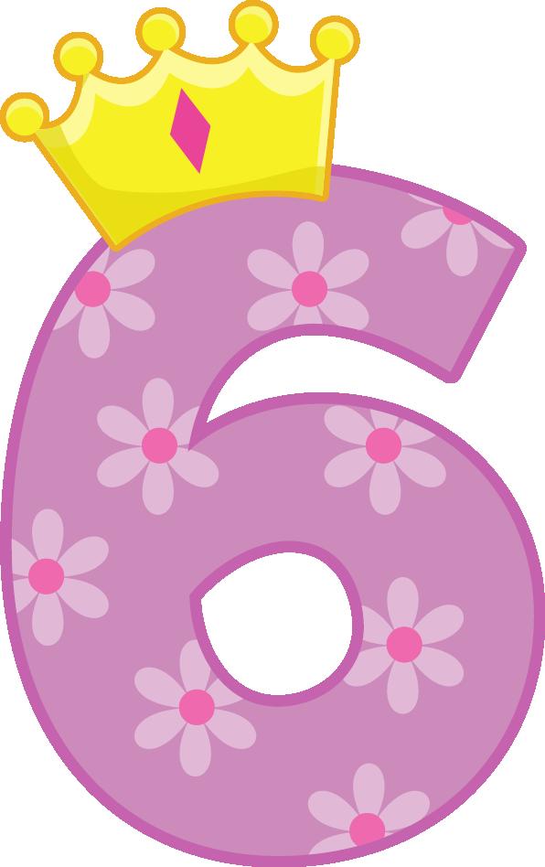 I n l k. Clipart numbers princess