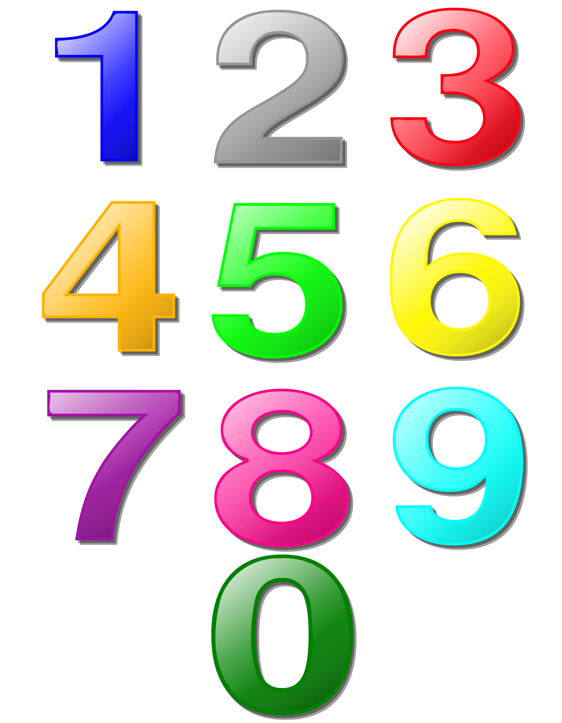 Game marbles digits big. Number 1 clipart color