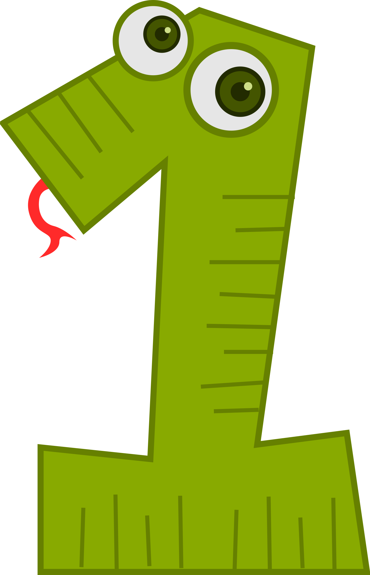 Number animals snake big. One clipart top 1