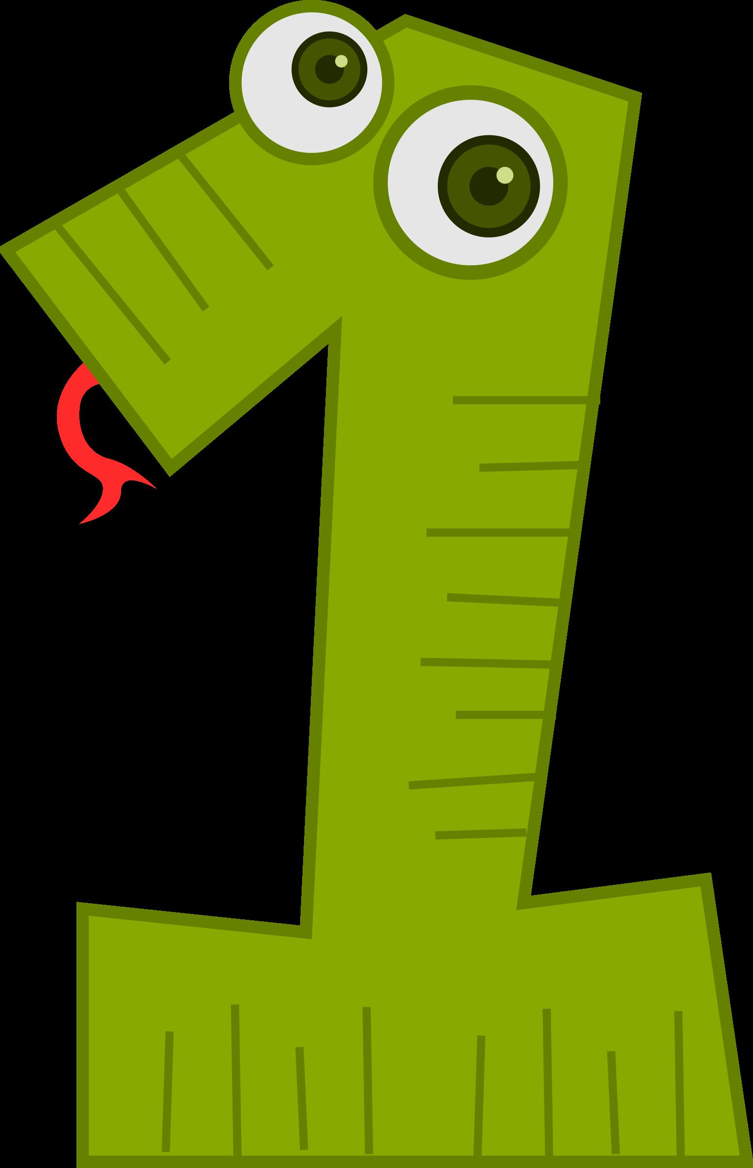 number clipart snake