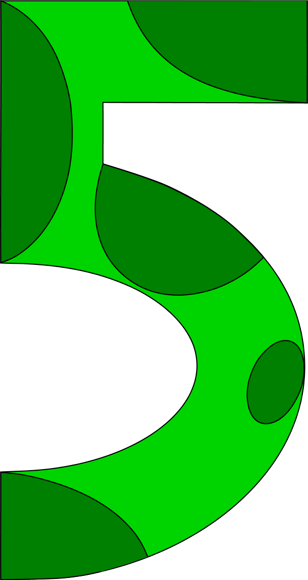Clipart numbers snake. Green number pencil and