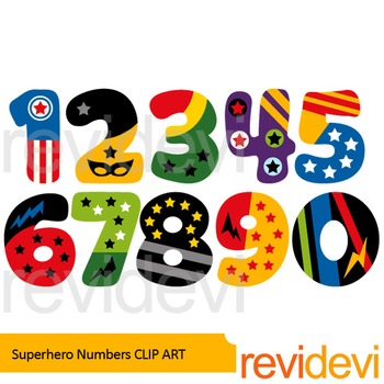 Superhero numbers clip art. Number 4 clipart bright