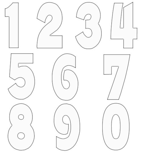 Free craft project . Clipart numbers template