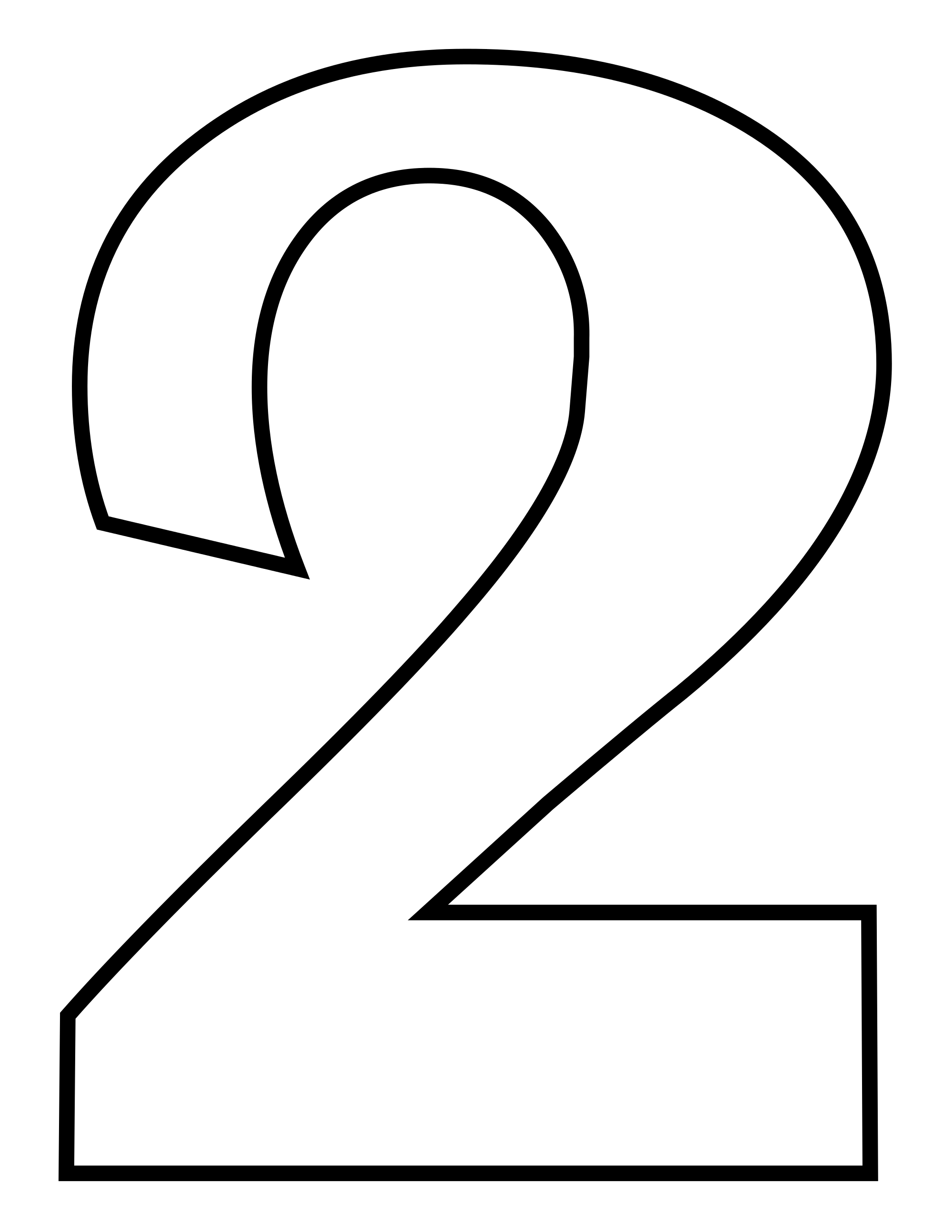 Numbers for drawing at. Number 1 clipart black and white