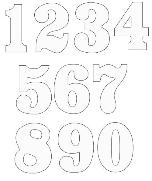 Number google search toys. Clipart numbers template