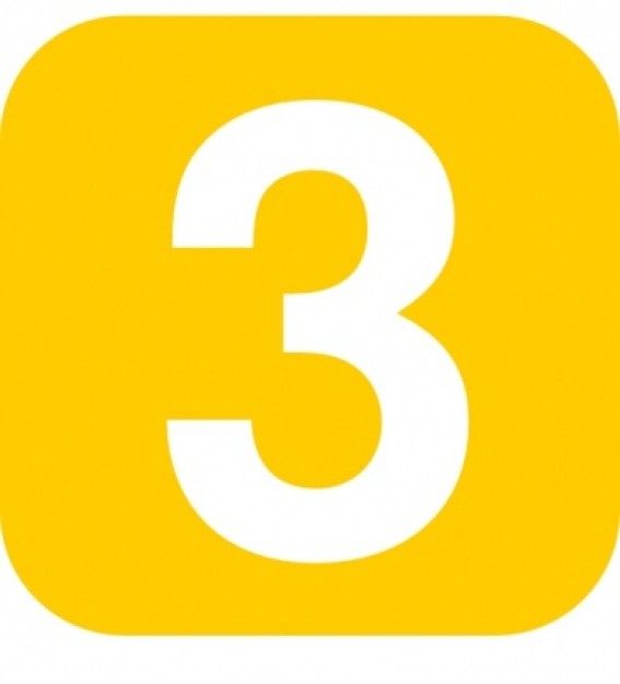 Number free images image. Clipart numbers three