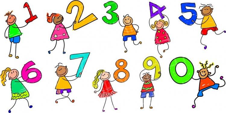 Happy cartoon kids art. Number 6 clipart toddler