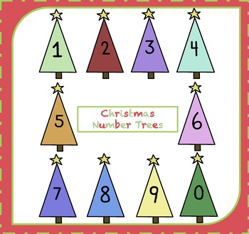 Clipart trees number. Free numbers christmas
