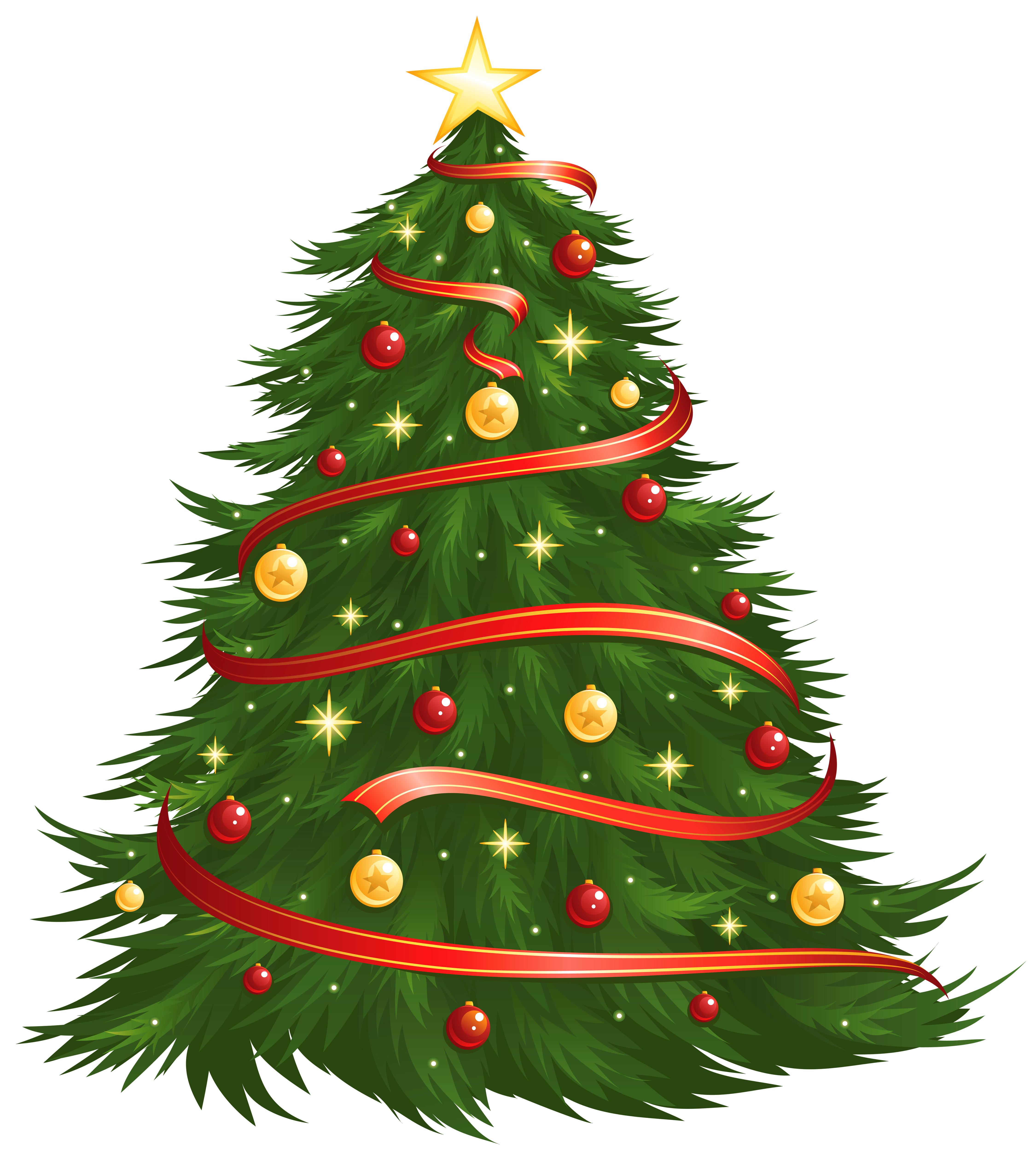Large size transparent decorated. Tree clipart number
