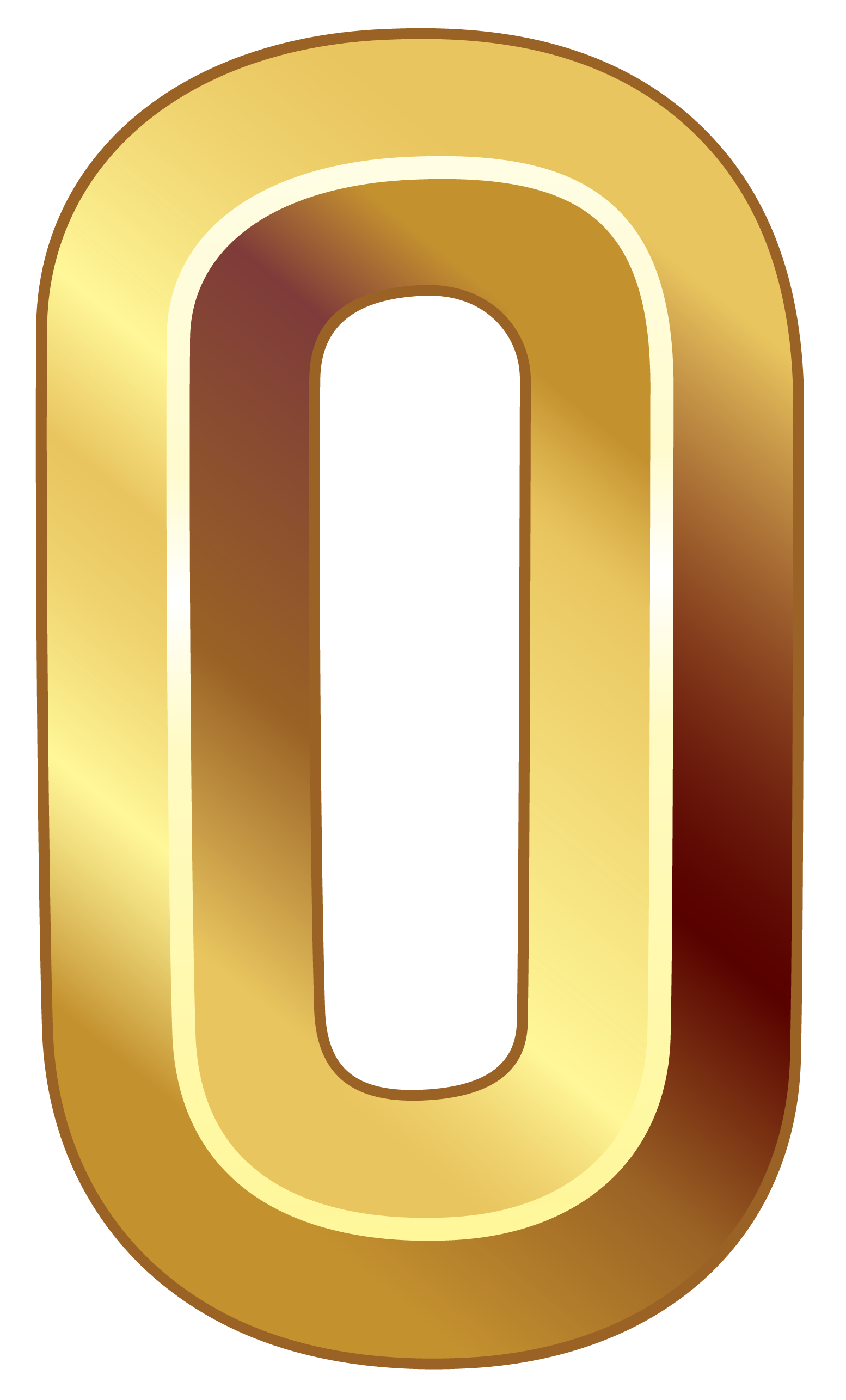 Number 1 clipart yellow. Gold zero png image