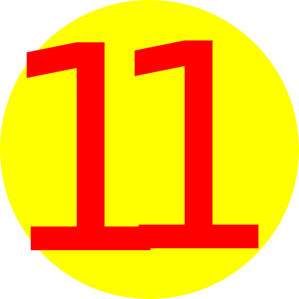 Number 2 clipart yellow. Round with clip art