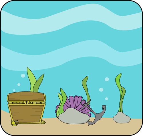 Clipart ocean. Clip art image colorful